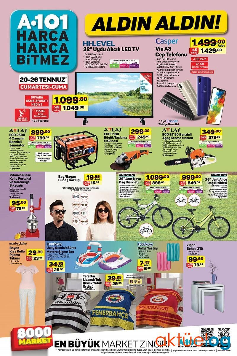 A101 1 Ağustos 2019 Aktüel Ürünler Kataloğu