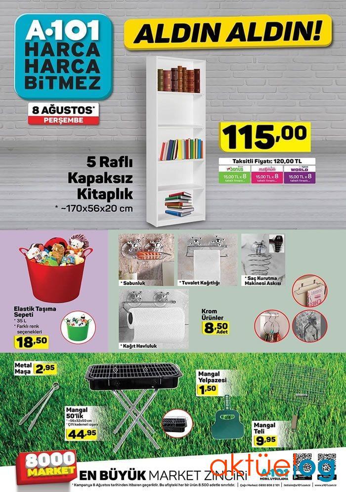 A101 8 Ağustos 2019 Aktüel Ürünler Kataloğu