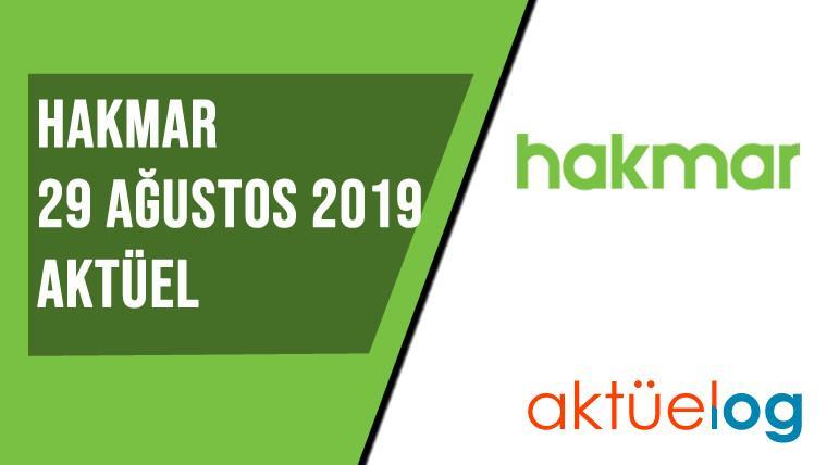 Hakmar 29 Ağustos 2019 Aktüel Ürünler Kataloğu