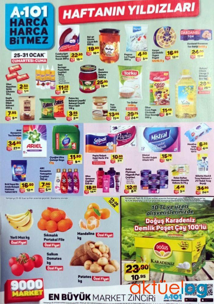 A101 25 Ocak 2020 Aktüel Ürünler Kataloğu