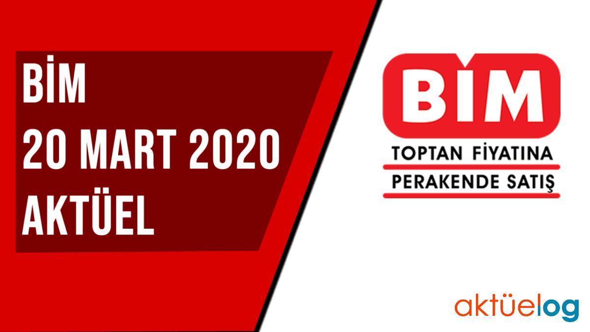 BİM 20 Mart 2020 Aktüel Ürünler Kataloğu