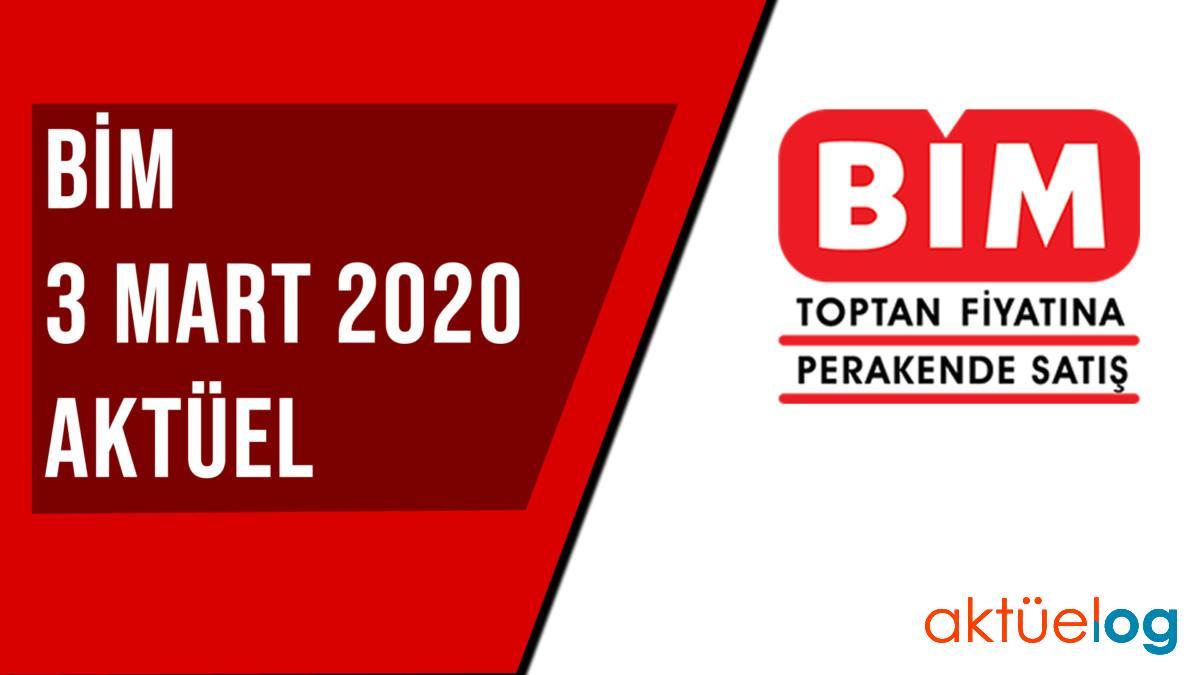 BİM 3 Mart 2020 Aktüel Ürünler Kataloğu