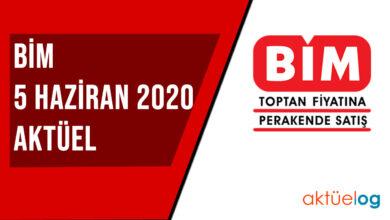 BİM 5 Haziran 2020 Aktüel Ürünler Kataloğu