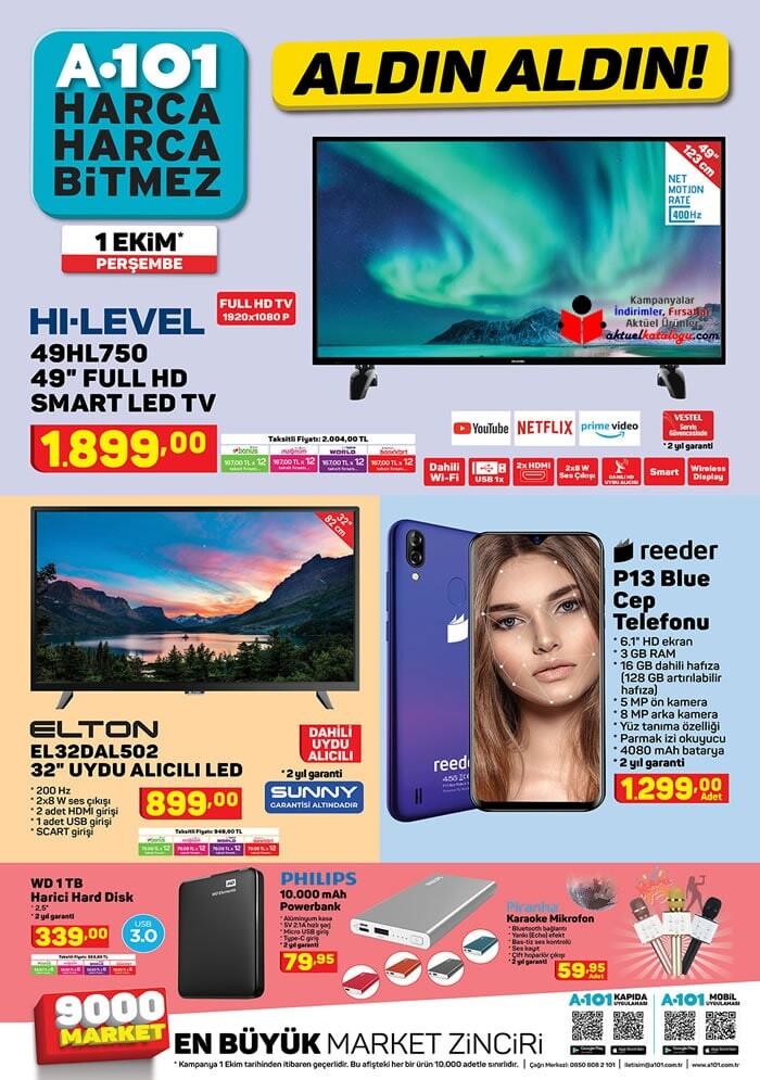 A101 1 Ekim 2020 Aktüel Ürünler Kataloğu