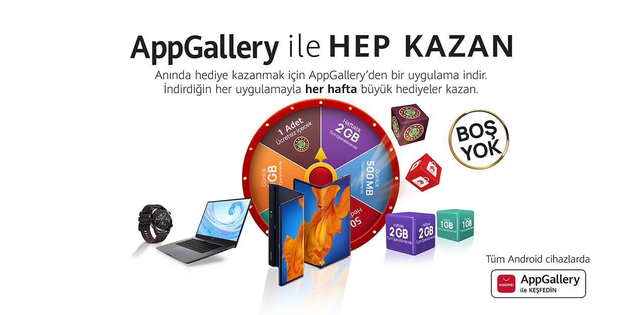 AppGallery ile Hep Kazan Kampanyası 2. Haftasında Kazandırmaya Devam Etti