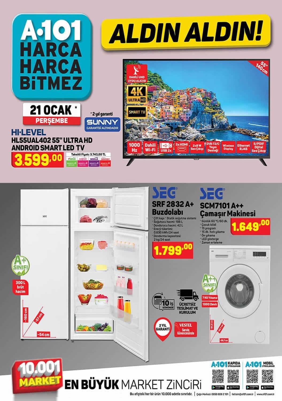 A101 21 Ocak 2021 Aktüel Ürünler Kataloğu